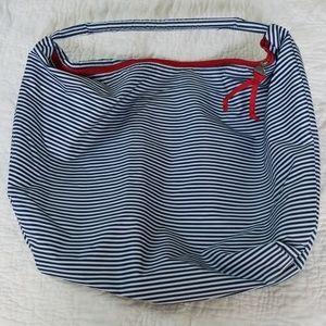 Lancome Nautical Design Zippered Tote Bag